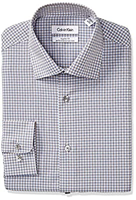 Calvin Klein Men's Regular Fit Non Iron Textured Check Shirt