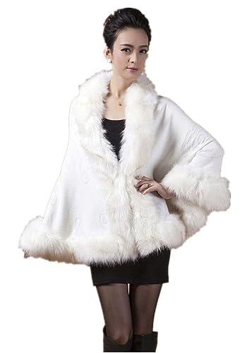 Charmly - Abrigo - para mujer blanco blanco Talla única