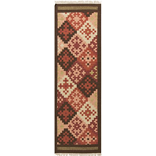 Surya Jewel Tone II JTII-2048 Transitional Hand Woven 100% Hard Twist Wool Carnelian 2'6