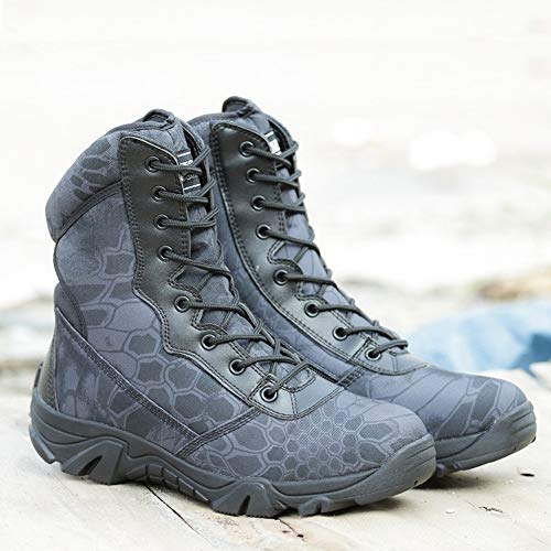 Black Combat Boots Inches 8 Boots Tactical Men's Side BE Special Zip Field DREAMER 6UqE7