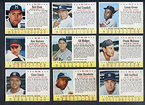 1963 Post Baseball Part Set Lot 16 Diff EX-MT Hodges 366620 Kit Young Cards