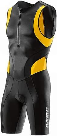 GWELL Traje de triatlón para hombre, triatlón, compresión, una pieza, Duatlón, correr, nadar, ciclismo, competición