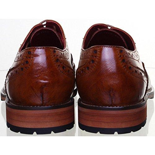 Chaussures à Marron JL25 de Reece Brun lacets ville Justin pour homme qp65ZnCw