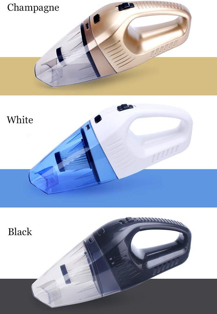 Smart Mute Aspirateur, Mini-portatif Aspirateur de voiture, humide et Aspirateur portable à sec à usage domestique cadeau (Color : Black) Champagne