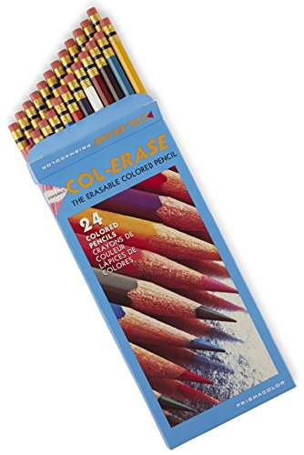 - Prismacolor Col-Erase Erasable Colored Pencil, 24-Count, Assorted Colors (20517)