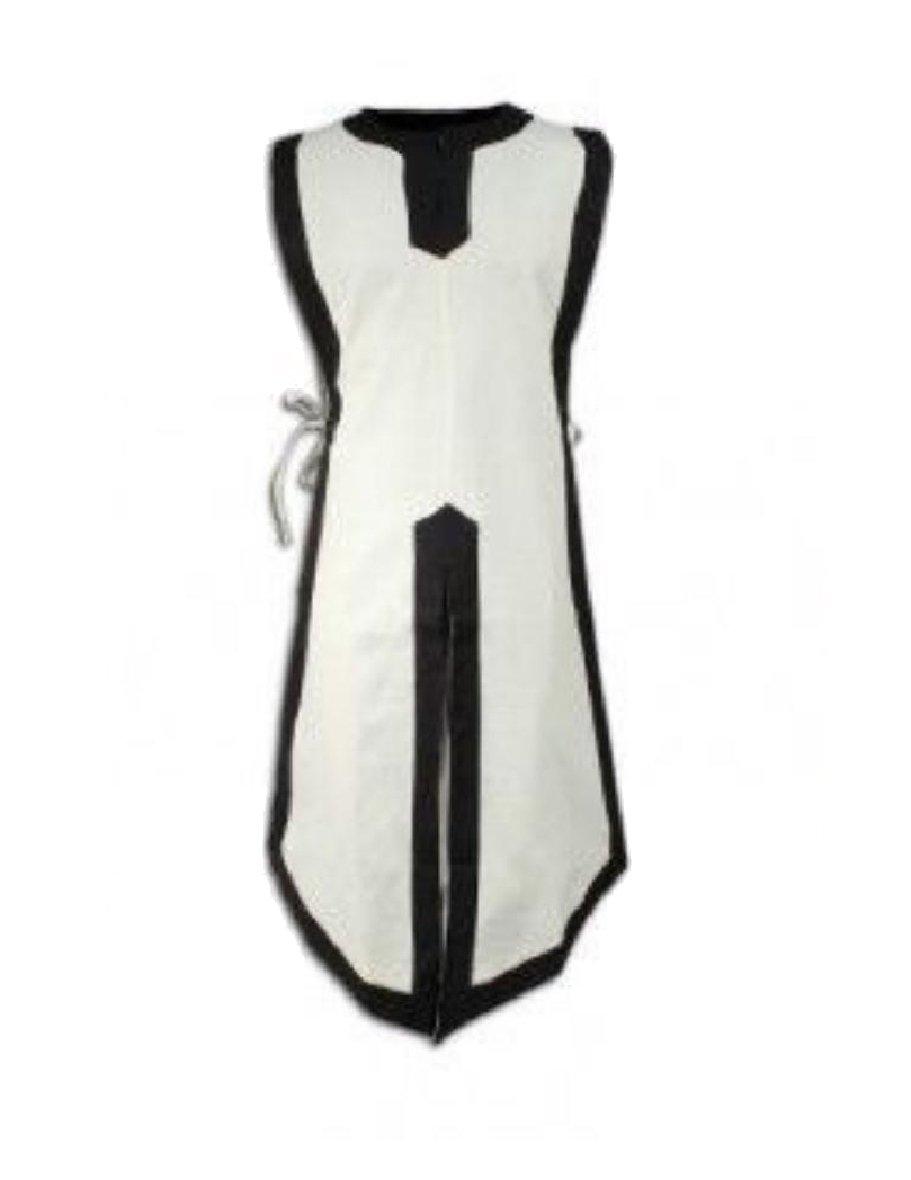 VITryst-Men Renaissance Waistcoat Vest Mid-Long Style Medieval Jackets White M