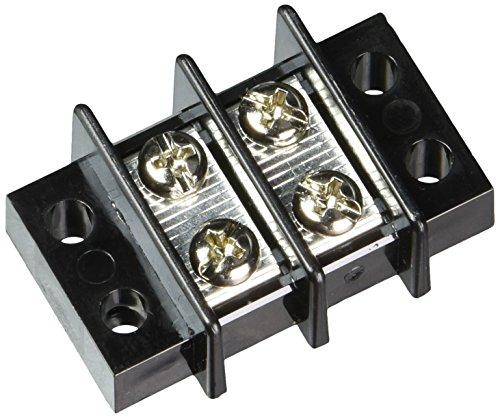 NTE Electronics 25-B600-02 Series 25-B600 Terminal Block Barrier Strip, Dual Row Panel Mount, 25 Amp, Dual Row, 2 Pole, 11.00 mm Pitch, 300V, 22-12 AWG Wire Range