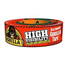 Gorilla 6004002 Orange High Visibility Tape Duct Tape, 1.88 inch x 35 Yd., High Visibility