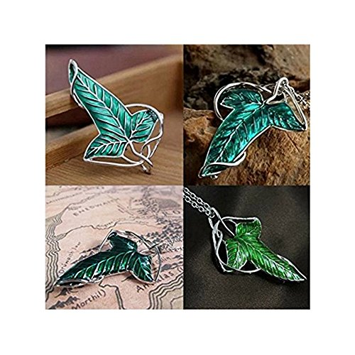 - Kunrong Lord of the rings Elven brooch pin,Leaves necklace pendant.
