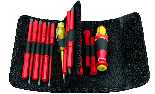 Wera KK VDE 60i/62i/68i/18 Insulated Pouch Set with Interchangeable Blades, 18-Piece by Wera