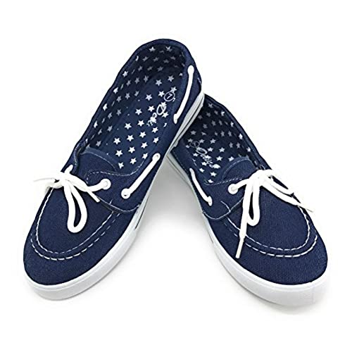 Blue Berry EASY21 Canvas Lace Up Flat Slip On Boat Comfy Round Toe Sneaker Tennis Shoe for sale