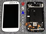 Generic Original Verizon Galaxy S3 I535 LCD & Touch Screen Digitizer WHITE Genuine Samsung SCH-I535 Galaxy S3 Replacement Top Glass Touch Panel, AMOLED OLED Display Screen, Lower Front Navigation Keypad and LCD Back Plate
