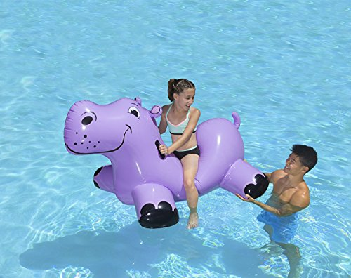 51PLmN2XuQL - Poolmaster Happy Hippo Swimming Pool Float Rider