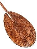 Wall Hanging Premium Paddle 60'' Steersman - Blonde Tiger Curls | #koa6088