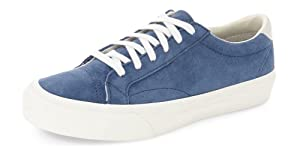 ZXD Fashion Low Top Suede Sneakers Lace up Round Toe Running Shoes Comfortable Athletic Flats Unisex 8 B(M) US Women/6.5 D(M) US Men