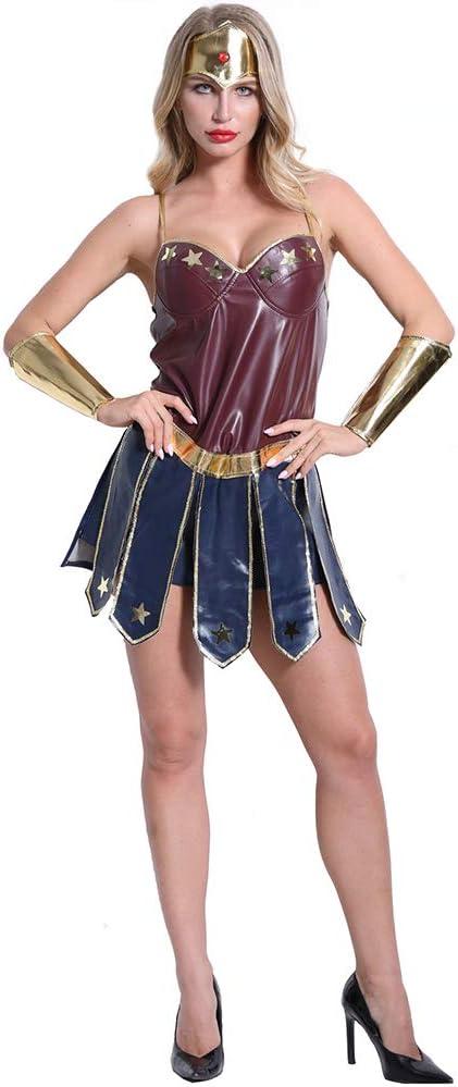 RONSHIN Disfraz de Heroína para Mujer, Disfraz de Halloween ...