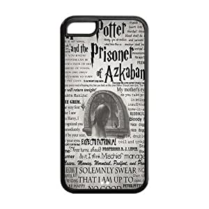 meilinF0005C Case, iPhone 5C Case - Fashion Style New Harry Potter Painted Pattern TPU Soft Cover Case for iPhone 5C (Black/white)meilinF000
