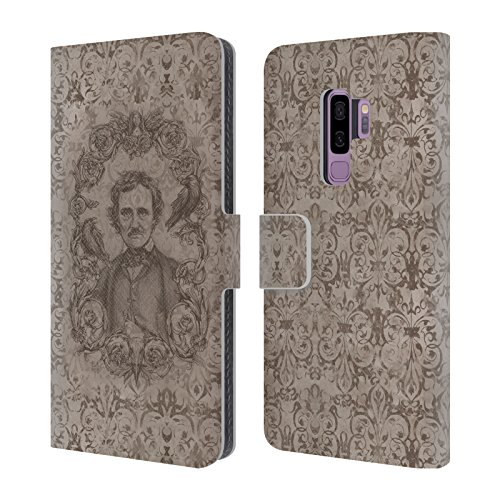 Official Brigid Ashwood Edgar Allan Poe Vintage Romance Leather Book Wallet Case Cover For Samsung Galaxy S9+ / S9 Plus