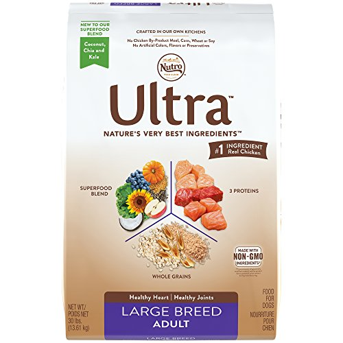 Nutro Ultra Large Breed Adult Dry Dog Food  1  30 Pounds Bag  Supports A Healthy Heart And Joints   1 Ingredient Real Chicken  Rich In Nutrients And Full Of Flavor