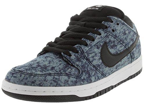 Nike Men s Dunk Low Premium Sb Midnight Navy Black White Skate Shoe