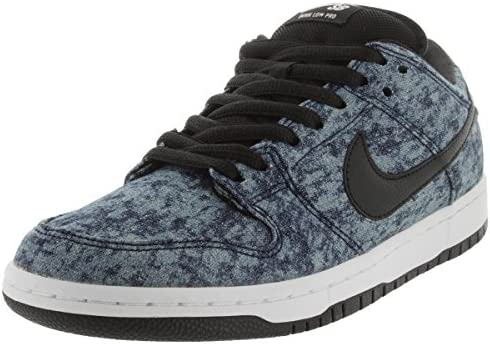 Nike Men s Dunk Low Premium Sb Midnight Navy Black White Skate Shoe