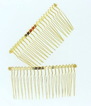 7f39ba5c Amazon.com : Wire Gold Hair Comb Bridal/veil/crafts 3in : Decorative Hair  Combs : Beauty