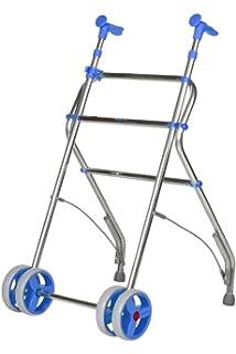 Andador ultraligero y plegable de aluminio con ruedas dobles ...