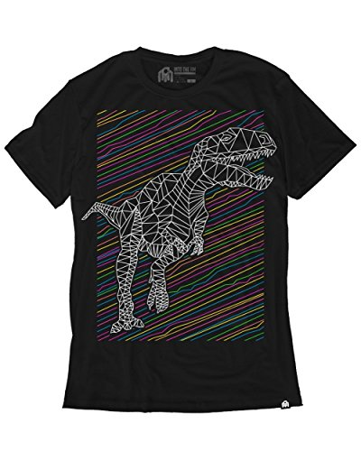 INTO THE AM Rawr Glow in The Dark Men's Graphic Tee Shirt (Large)