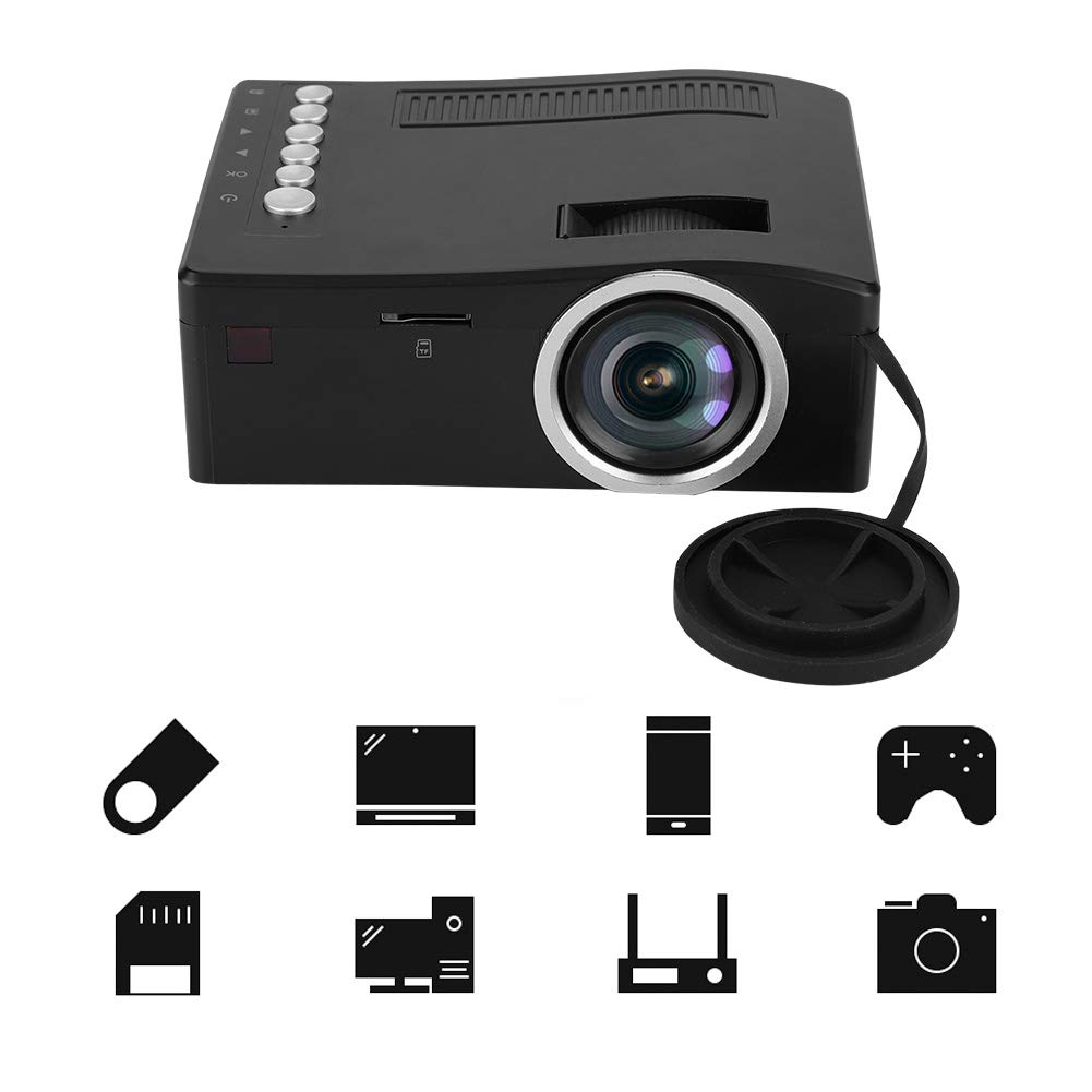 Wendry Proyector,Mini Projector Portátil,1080P Full HD LED ...