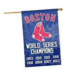 Boston Red Sox 8X Champions 28x44 Premium Embroidered Banner Flag Baseball