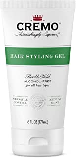 product image for Cremo Barber Grade Hair Styling Gel, Flexible Hold Formula, 6 oz