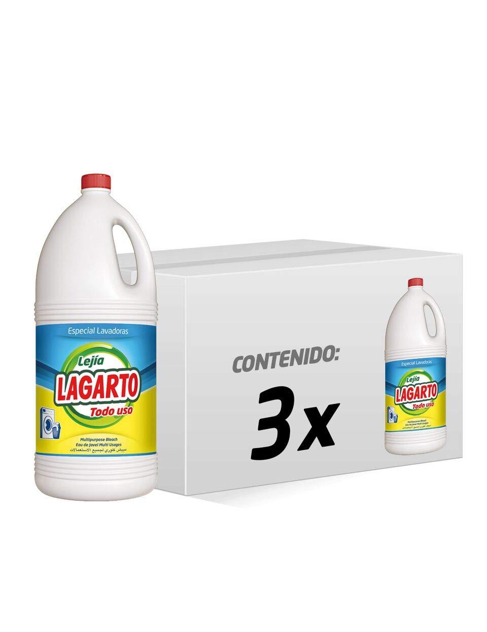 Lagarto Lejía Lavadora - Todo Uso - Paquete de 3 x 5000 ml - Total ...