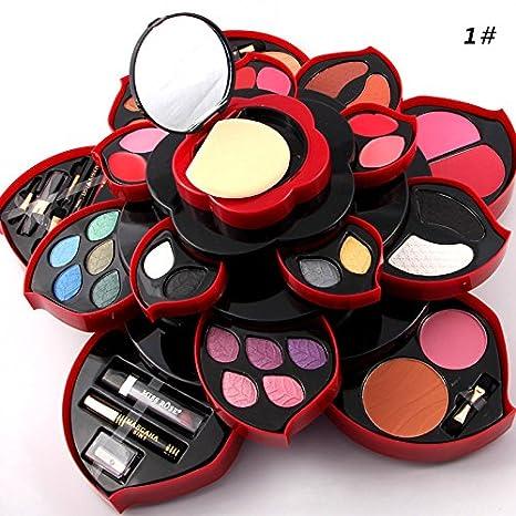 4d28cec9452e ZHUOTOP Luxurious Eyeshadow Blusher Foundation Concealer Lip Gloss Eyebrow  Brush Rotation Makeup...