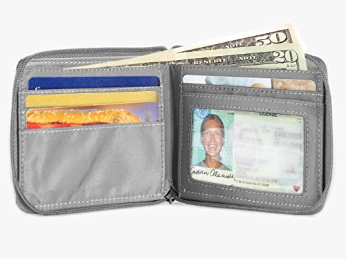 Wallet Bi Fold Cards Graphite Holds Skinny Men's 25 Slim Big to Zippered Up ZxYRtqw