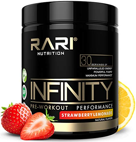 Leaf Red (RARI Nutrition - Infinity Preworkout - 100% Natural Pre Workout Powder - Keto and Vegan Friendly - Energy, Focus, and Performance - Men and Women - No Creatine - 30 Servings (Strawberry Lemonade))