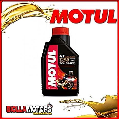 MOTUL22 - Bote de 1 litro de aceite Motul 7100 4T 20W50 100% sintético para motores 4T: Amazon.es: Coche y moto