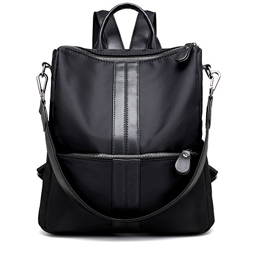 Luckysmile Water-resistant Nylon Backpack, Lightweight Casual Shoulder Bag Purse by Luckysmile