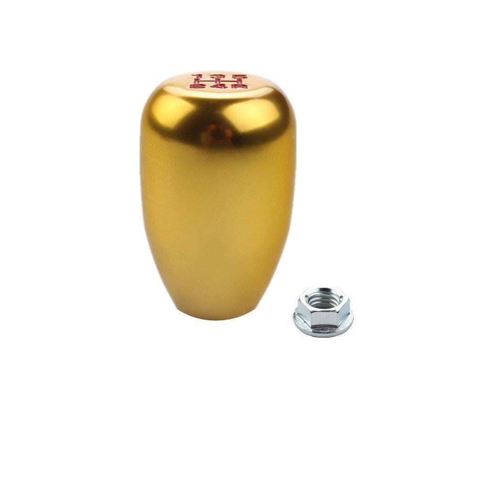 DEWHEL 5 Speed Manual Gearbox Shift Knob M12x1.25 Screw On Aluminum Gold