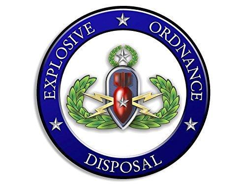 Rank Vinyl Sticker - GHaynes Distributing Round EOD Rank MASTER Explosive Ordnance Disposal Seal Sticker Decal ic Size: 4 x 4 inch