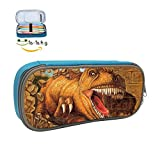 Jurassic Period Dinosaur Big Capacity Pen Bag Makeup Pouch Durable Students Stationery With Double Zipper
