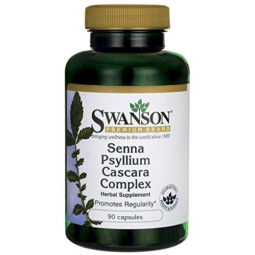 Swanson Senna Psyllium Cascara Complex 90 Capsules