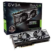EVGA GeForce GTX 1070 Ti SC GAMING ACX 3.0 Black Edition, 8GB GDDR5, EVGA OCX Scanner OC, White LED, DX12OSD Support (PXOC) Graphics Card 08G-P4-5671-KR
