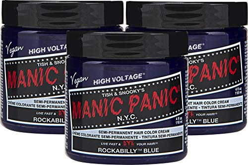 Manic Panic Rockabilly Blue Hair Dye Color 3 pack