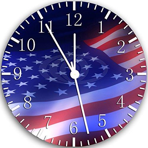 Borderless American Flag Frameless Wall Clock Z45 Nice for Decor Or Gifts