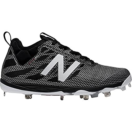356aa7473 New Balance Men s L406v1 Low Metal Baseball Cleat Black White 10 (D) Medium
