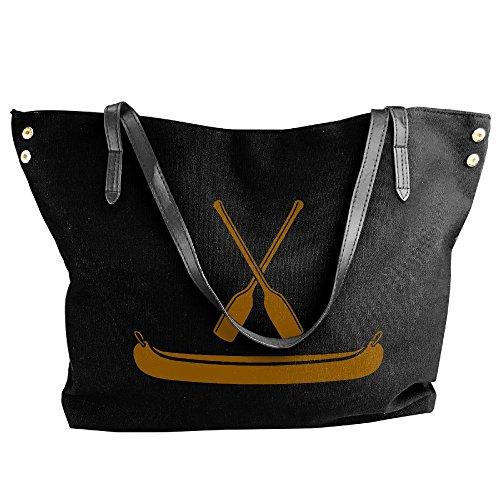 Paddle Black Handbags Shoulder Tote Canvas Canoe Women's Handbag Large With w07FqFf