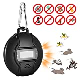 CAMTOA Repellent Ultrasonic, Solar Power or Electronic Pest Repeller Mosquito Repellent with Compass, Indoor Pest Control for Mice, Bugs, Mosquito, Rats