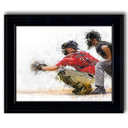 - Personalized Baseball Catcher Sports Action Print - Gift for The Baseball Player (14