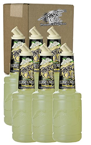 [Finest Call Premium Elderflower Syrup Drink Mix, 1 Liter Bottle (33.8 Fl Oz), Pack of 6] (Yield Sign Halloween Costume)
