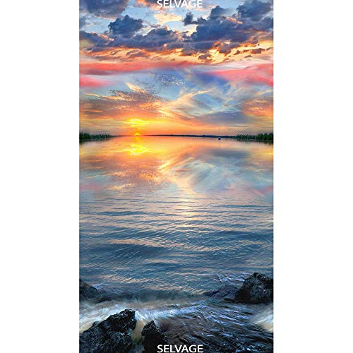 - Timeless Treasures Fabrics Sunset Sail Multi Sunset On Water Panel
